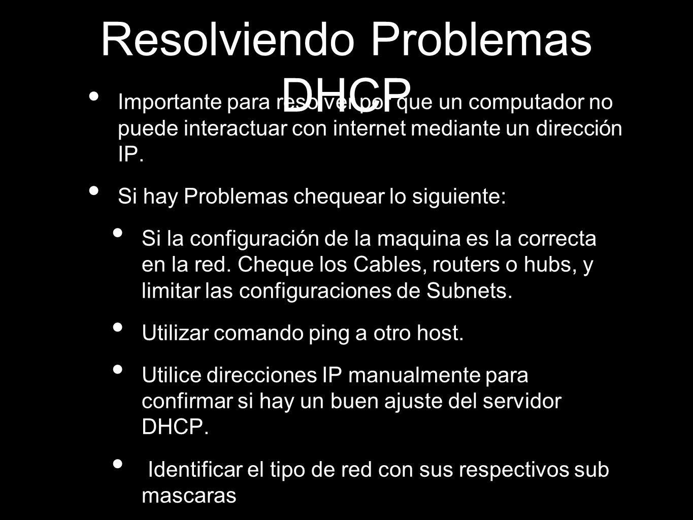 Resolviendo Problemas DHCP