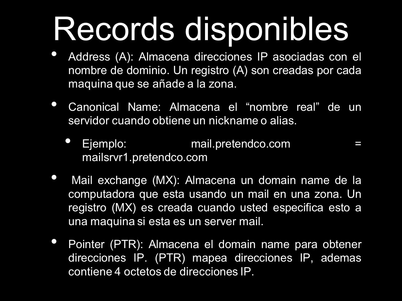 Records disponibles