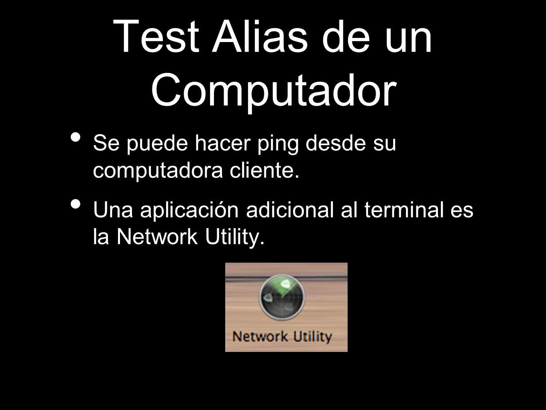 Test Alias de un Computador