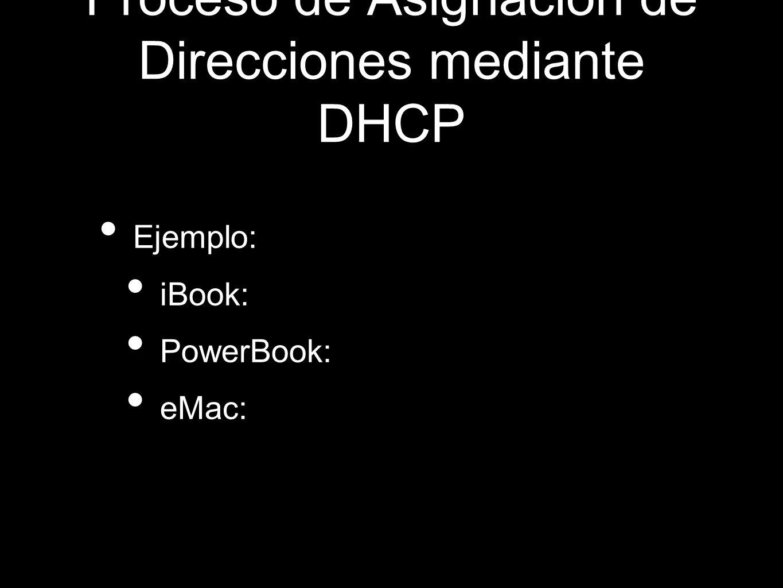 Proceso de Asignación de Direcciones mediante DHCP