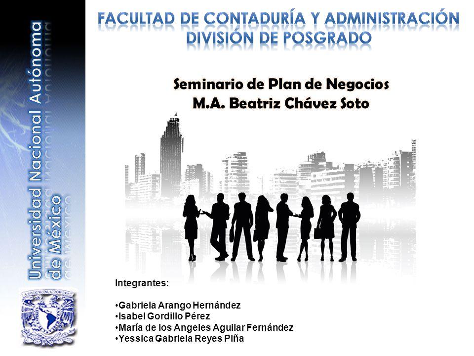 Facultad de Contaduría y Administración Seminario de Plan de Negocios
