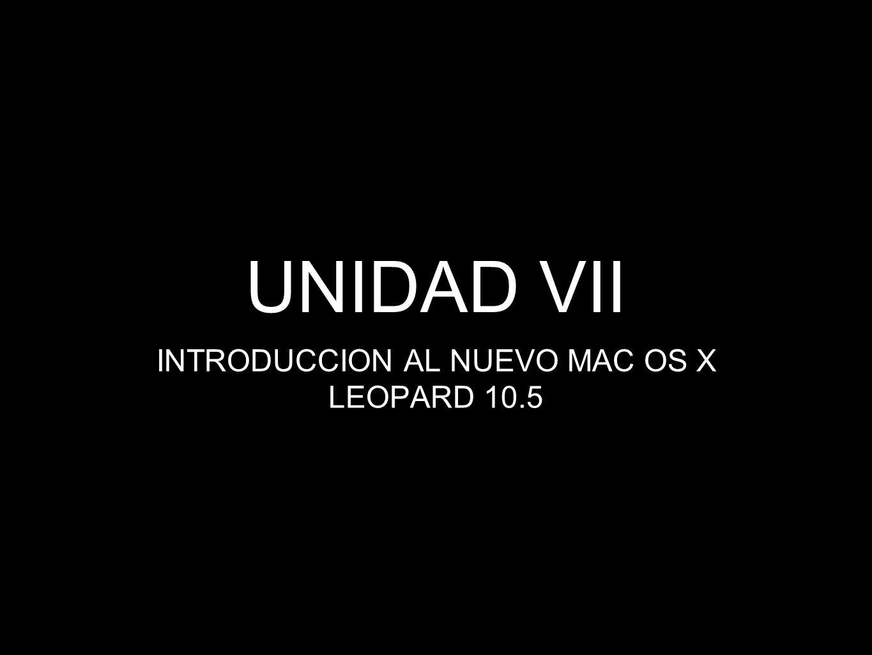 INTRODUCCION AL NUEVO MAC OS X LEOPARD 10.5