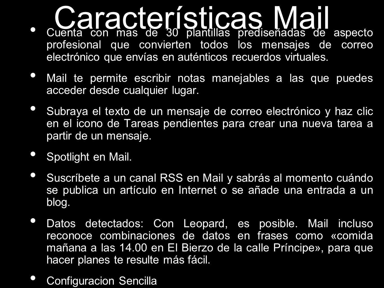 Características Mail