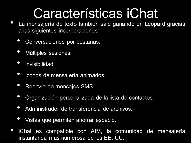 Características iChat