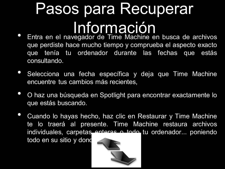 Pasos para Recuperar Información