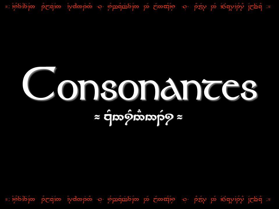 Consonantes ¬ zY5iY5#51Ri ¬