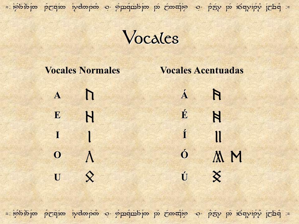 Vocales c v z x l ll b n ñ S D Vocales Normales Vocales Acentuadas A Á