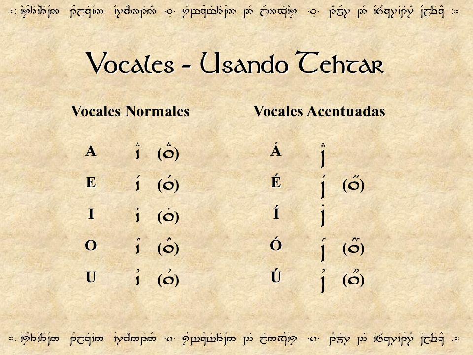 Vocales - Usando Tehtar