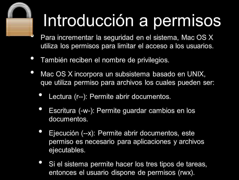 Introducción a permisos