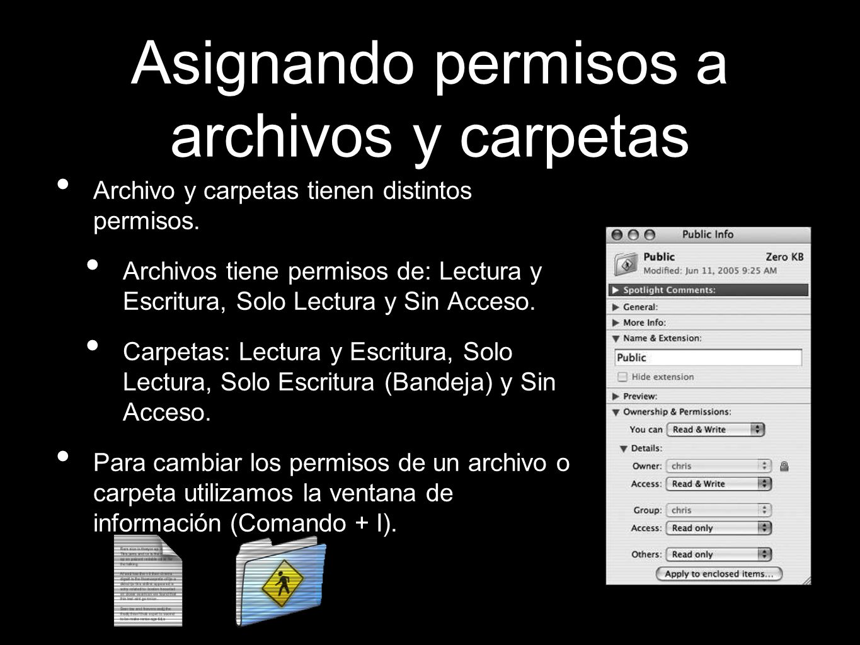 Asignando permisos a archivos y carpetas