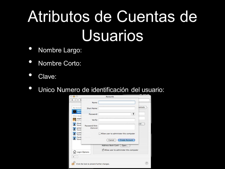 Atributos de Cuentas de Usuarios