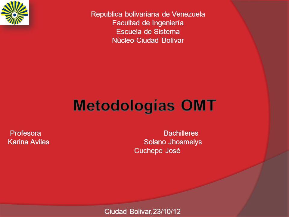 Metodologías OMT Republica bolivariana de Venezuela