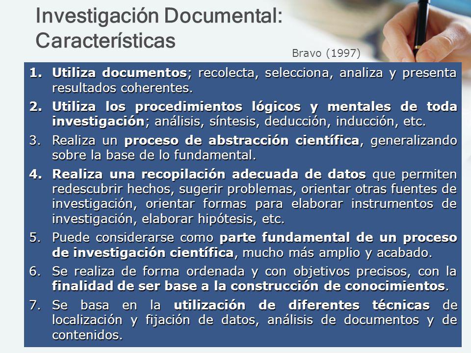 Investigación Documental: Características