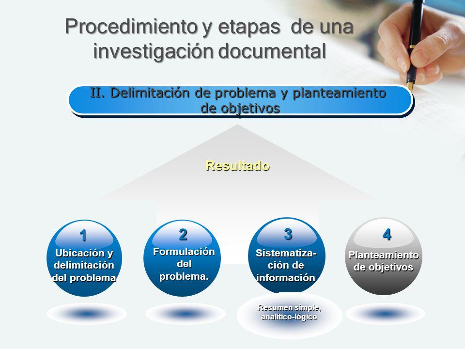 Procedimiento y etapas de una investigación documental