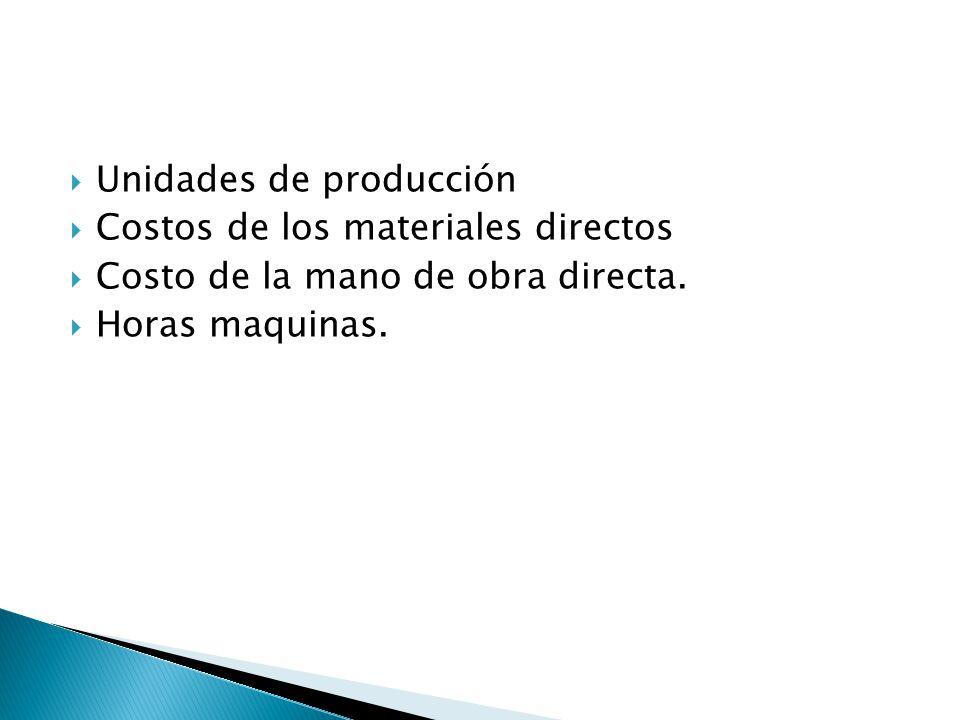 Unidades de producción
