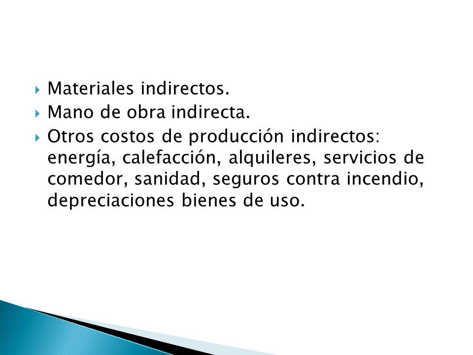 Materiales indirectos.