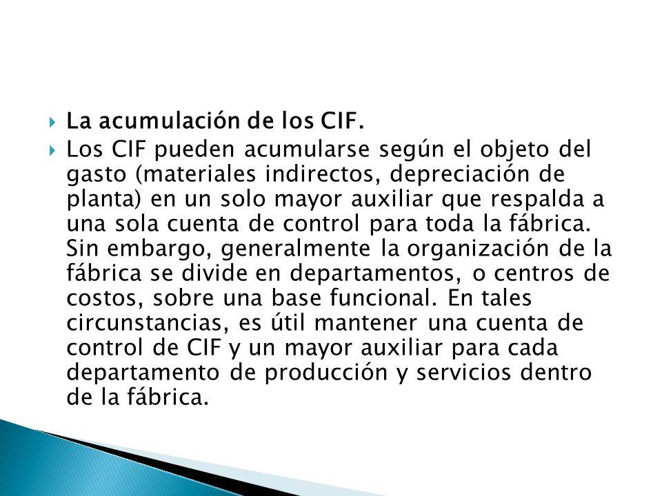 La acumulación de los CIF.