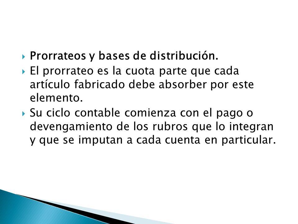 Prorrateos y bases de distribución.