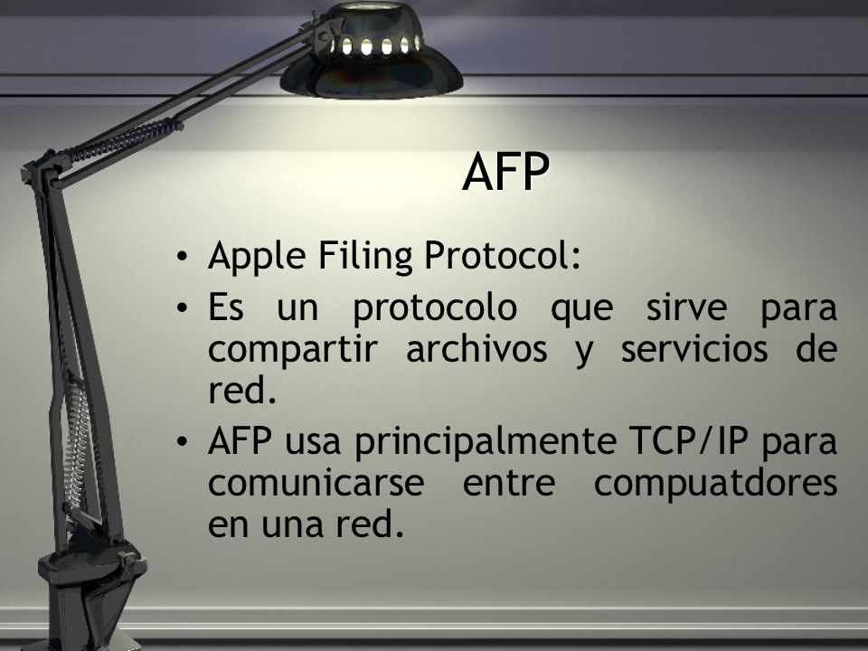 AFP Apple Filing Protocol: