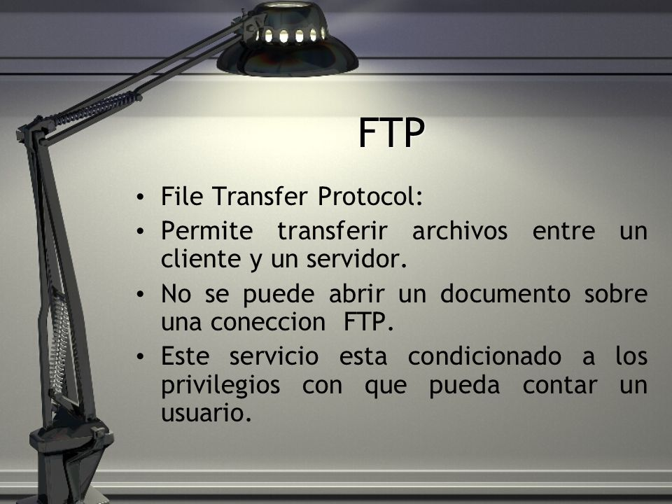 FTP File Transfer Protocol: