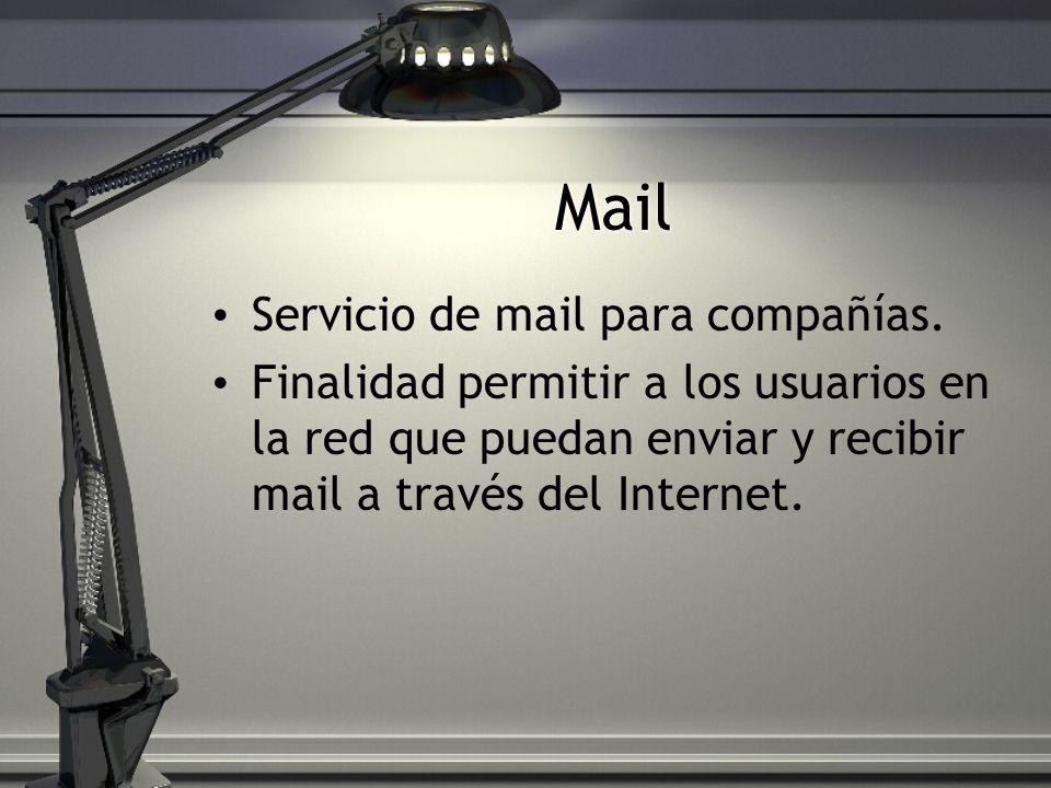 Mail Servicio de mail para compañías.