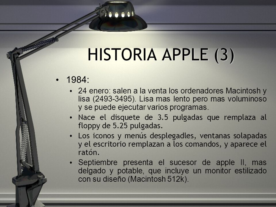 HISTORIA APPLE (3)1984: