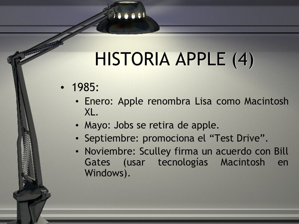 HISTORIA APPLE (4) 1985: Enero: Apple renombra Lisa como Macintosh XL.