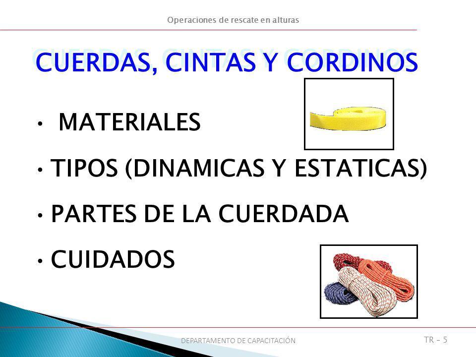 CUERDAS, CINTAS Y CORDINOS