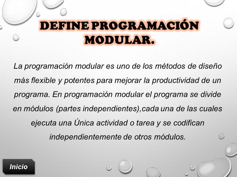 Define programación modular.