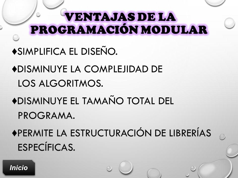Ventajas de la programación modular