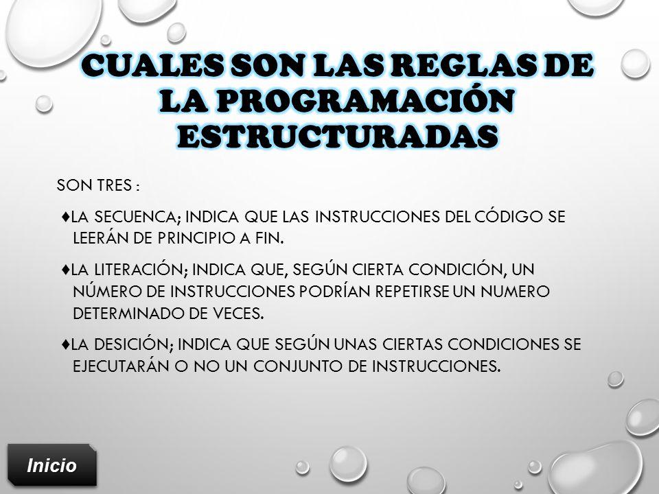 Cuales son las reglas de la programación estructuradas