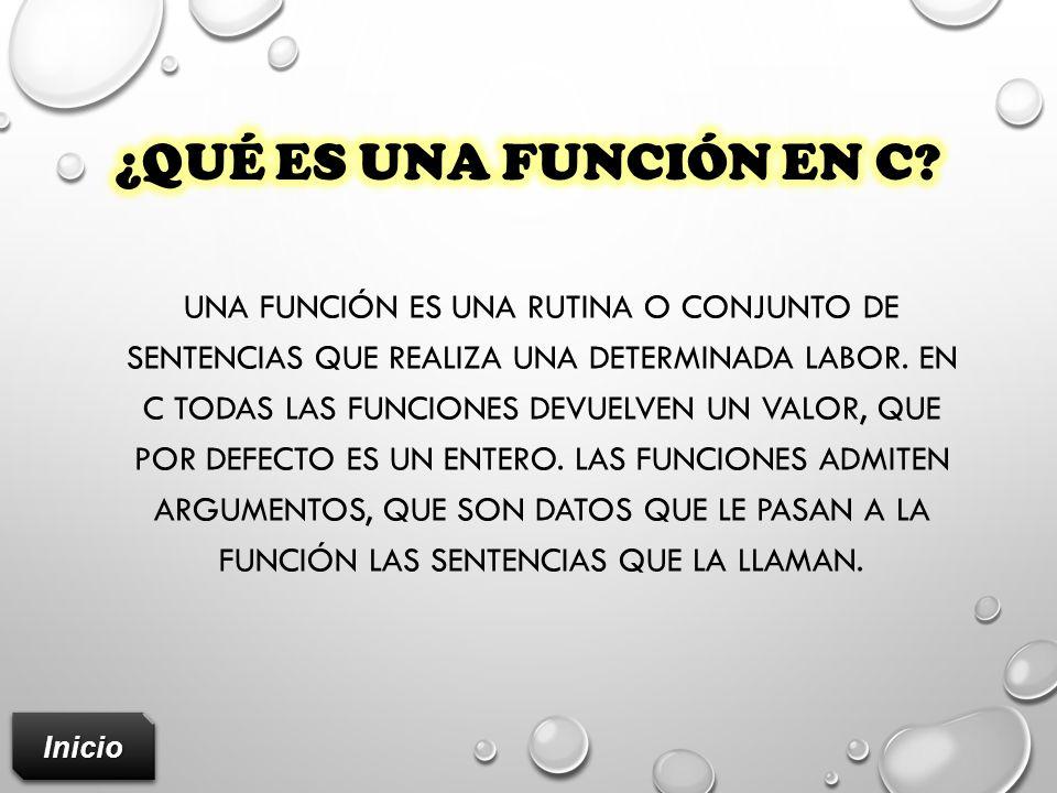 ¿Qué es una función en c