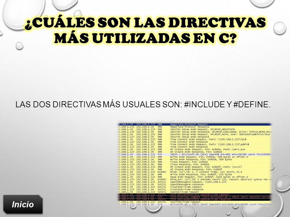 ¿Cuáles son las directivas más utilizadas en C