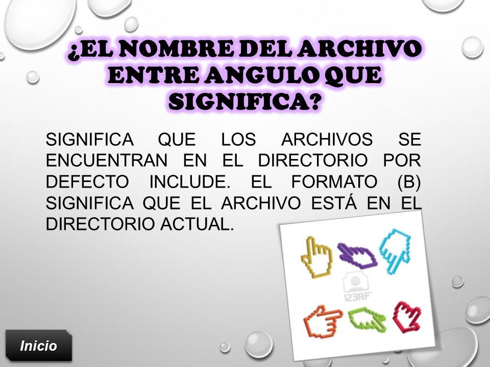 ¿El nombre del archivo entre Angulo que significa