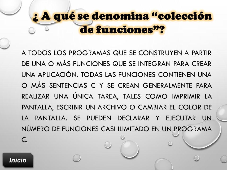 ¿ A qué se denomina colección de funciones