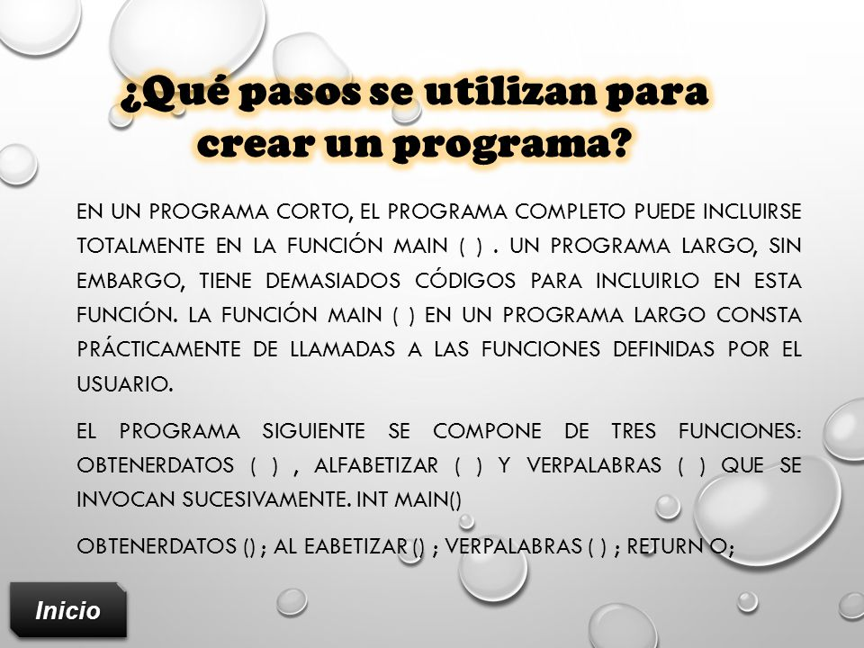 ¿Qué pasos se utilizan para crear un programa