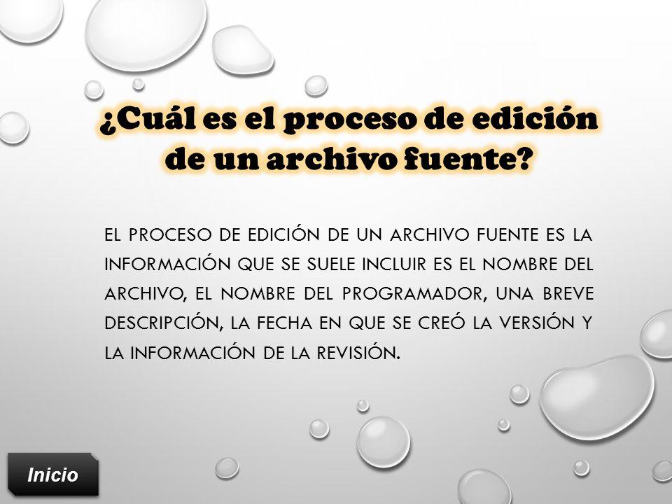 ¿Cuál es el proceso de edición de un archivo fuente