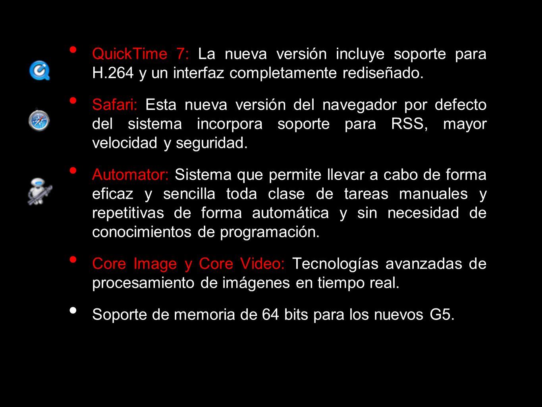 QuickTime 7: La nueva versión incluye soporte para H