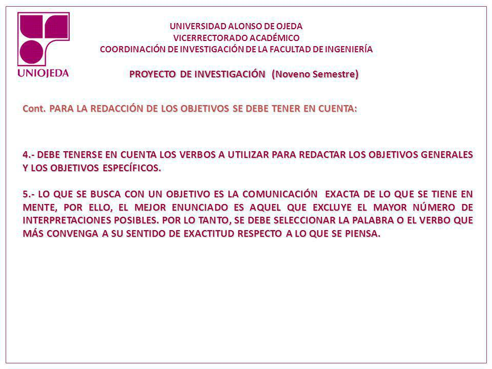 PROYECTO DE INVESTIGACIÓN (Noveno Semestre)
