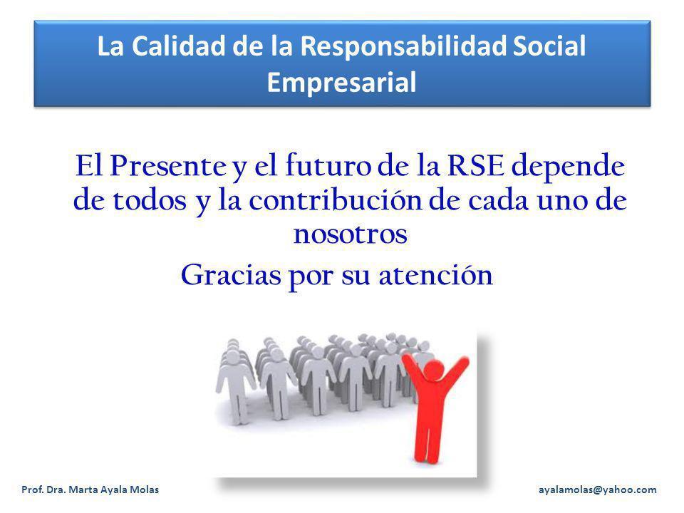 La Calidad de la Responsabilidad Social Empresarial