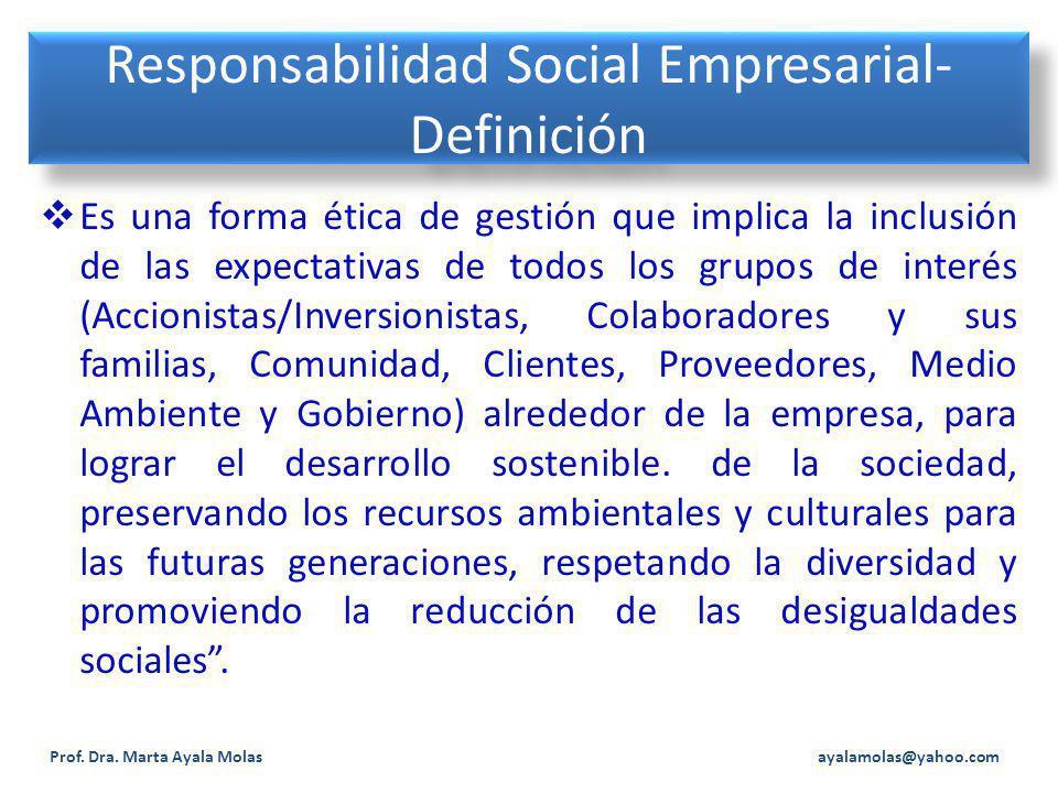 Responsabilidad Social Empresarial-Definición