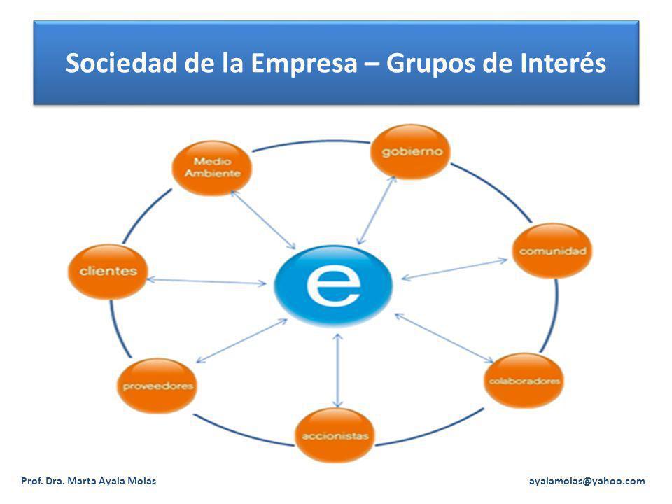 Sociedad de la Empresa – Grupos de Interés
