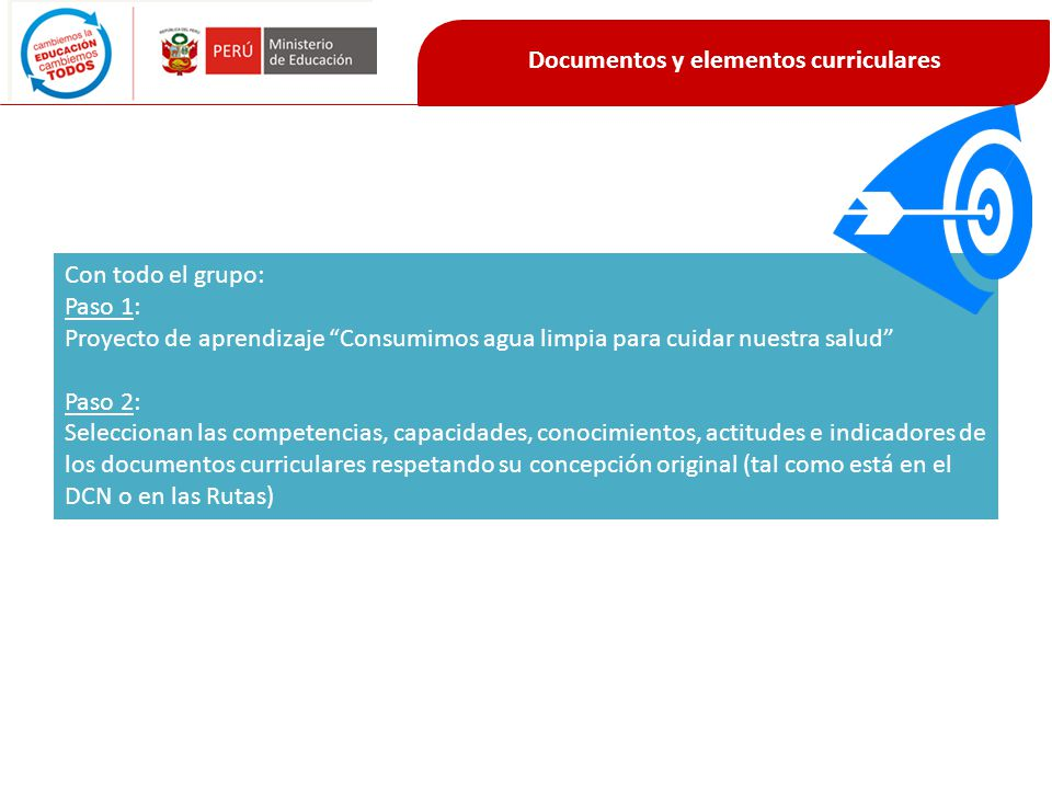 Documentos y elementos curriculares
