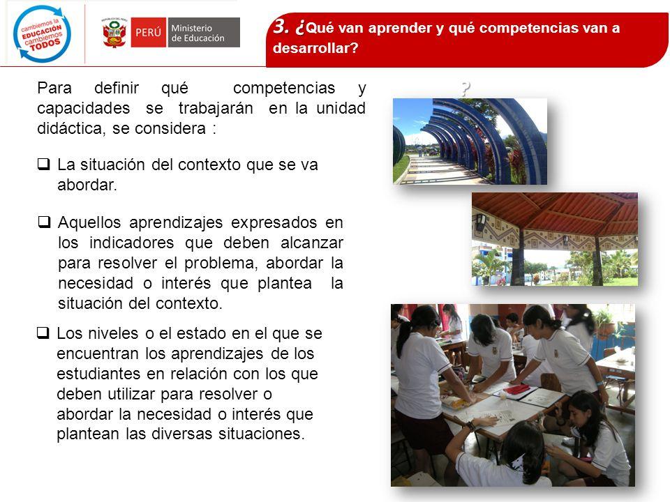 3. ¿Qué van aprender y qué competencias van a desarrollar