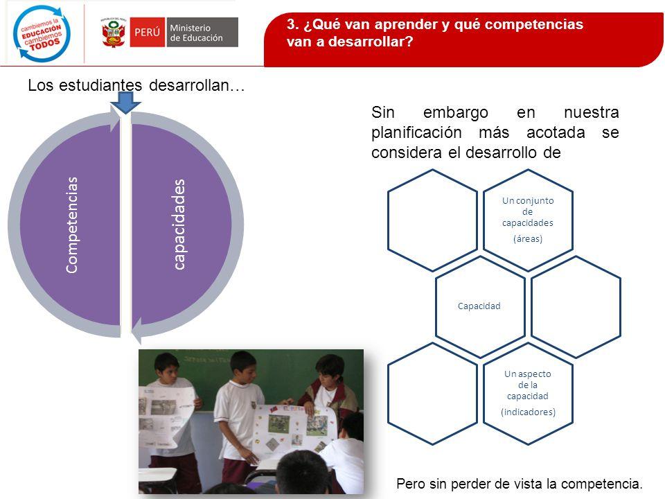 capacidades Competencias Los estudiantes desarrollan…