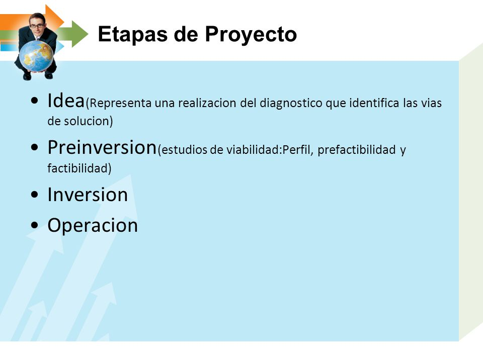 Etapas de Proyecto Idea(Representa una realizacion del diagnostico que identifica las vias de solucion)