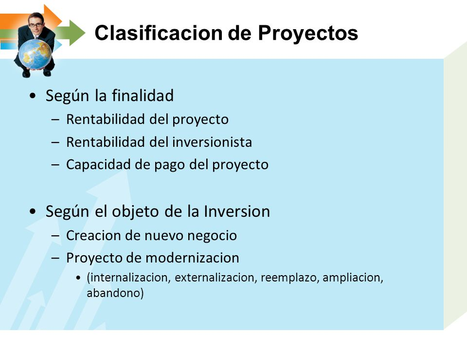 Clasificacion de Proyectos