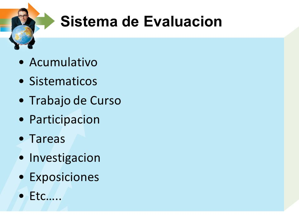 Sistema de Evaluacion Acumulativo Sistematicos Trabajo de Curso