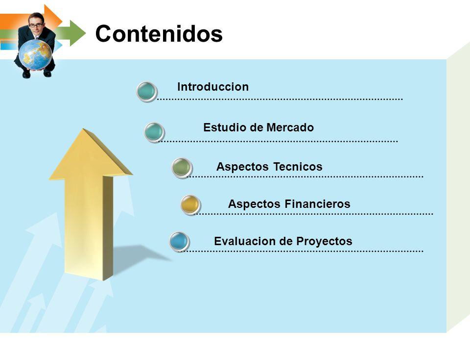 Contenidos Introduccion Estudio de Mercado Aspectos Tecnicos