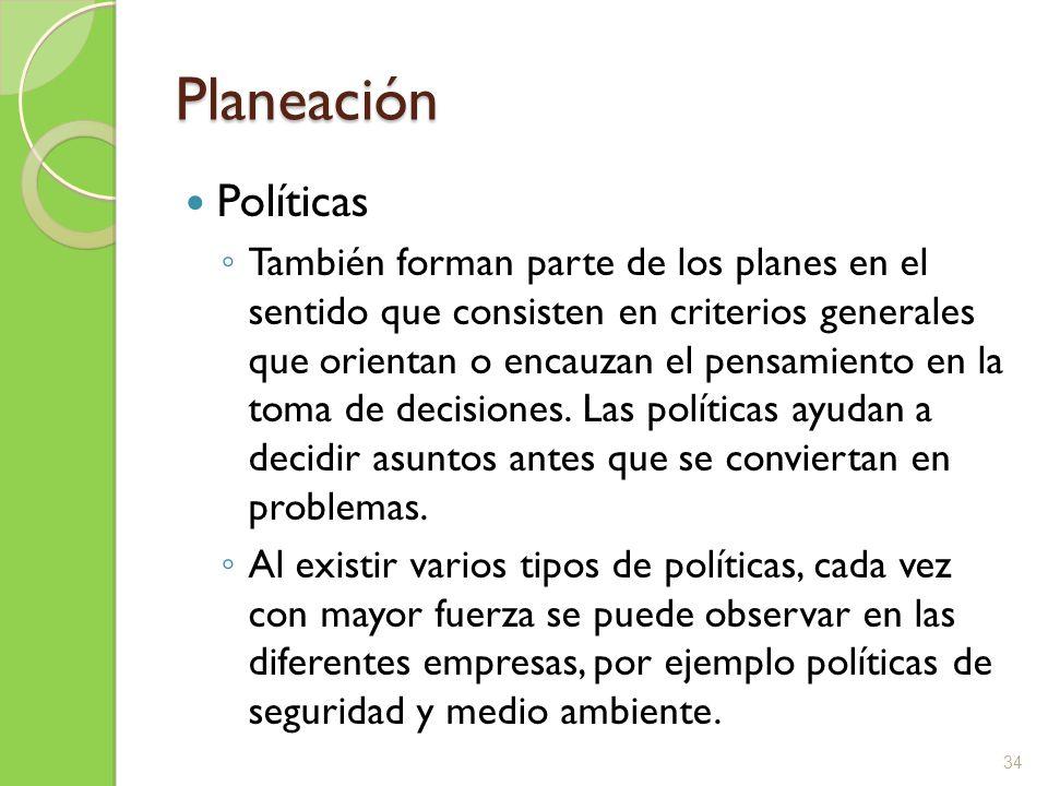 Planeación Políticas.